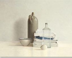 Willem de Bont - Jar, Bottle, Bowl and Cloths