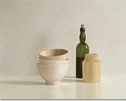 Willem de Bont - Stacked Bowls, Bottle and little Jar