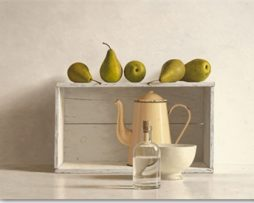 Willem de Bont - Five Pears on a Box