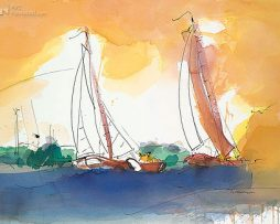 Ingrid Dingjan - Sailing in the sunset