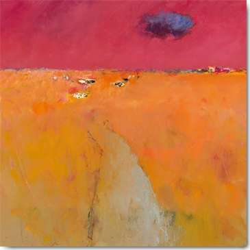 Jan Groenhart - Landscape in Orange and Red